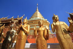 Wat Phra That Doi Suthep ist ein bedeutendes touristisches destin Stockbild