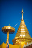Wat Phra That Doi Suthep. Is located at the top of Doi Suthep mountain and is one of Chiang Mai most famous temples Royalty Free Stock Photos