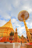 Wat Phra That Doi Suthep,Tambon Suthep,Amphoe Mueang,Chiang Mai Province,northern Thailand. Theravada temple on top of Doi Suthep Hill,finds the revered golden Stock Image