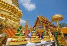 Wat Phra That Doi Suthep-Tempel, Chiang Mai, Thailand stock foto's