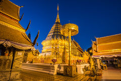 Wat Phra That Doi Suthep-Tempel, Chiang Mai, Thailand Stockfotografie