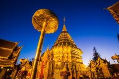 Wat Phra That Doi Suthep-Tempel, Chiang Mai, Thailand Stockbilder