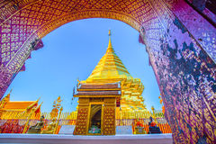 Wat Phra That Doi Suthep-Tempel, Chiang Mai, Thailand Lizenzfreie Stockfotografie
