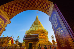 Wat Phra That Doi Suthep-Tempel, Chiang Mai, Thailand Lizenzfreies Stockbild