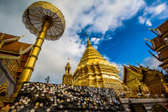 Wat Phra That Doi Suthep, tempio di Chiang Mail in Tailandia Fotografie Stock