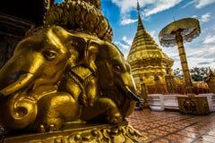 Wat Phra That Doi Suthep, tempio di Chiang Mail in Tailandia Fotografia Stock Libera da Diritti
