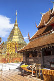 "Wat Phra That Doi Suthep. Is a Theravada wat in Chiang Mai Province, Thailand. The temple is often referred to as ""Doi Suthep"" although this is actually the Stock Photos"