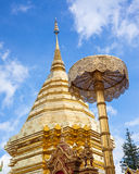 Wat Phra That Doi Suthep is toerisme van Chiang Mai Royalty-vrije Stock Foto's