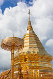 Wat Phra That Doi Suthep is tourism of Chiang Mai Stock Photos
