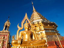 Wat Phra That Doi Suthep is tourist attraction of Chiang Mai stock image