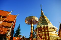 Wat Phra That Doi Suthep is tourist attraction of Chiang Mai, Thailand.Asia stock image