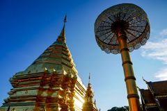 Wat Phra That Doi Suthep is tourist attraction of Chiang Mai, Thailand.Asia royalty free stock images