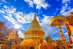 Wat Phra That Doi Suthep is tourist attraction of Chiang Mai royalty free stock images