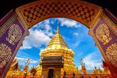 Wat Phra That Doi Suthep is tourist attraction of Chiang Mai. Thailand Stock Photography