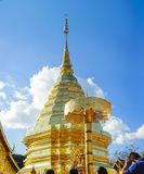 Wat Phra That Doi Suthep. View of the beautiful central pagoda at the Wat Phra That Doi Suthep Buddhist temple in Chiang Mai, Thailand Royalty Free Stock Photos