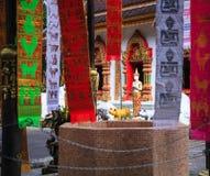 Wat Phra That Doi Tung-tempelkerk met openbaar domein die het overblijfsel van Boedha bevatten die ` s, als schat van Boeddhisme  royalty-vrije stock fotografie