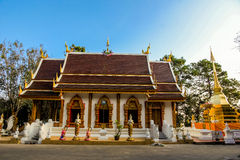 Wat Phra That Doi Tung Thailand Arkivbild