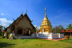 Wat Phra That Doi Yuak Pong District, Phayao, Thailand Arkivfoton
