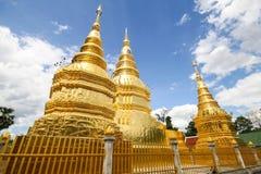 Wat Phra Ha Duang,南奔泰国 免版税库存图片