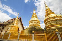 Wat Phra Ha Duang,南奔泰国 库存照片