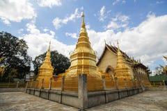 Wat Phra That Ha Duang Lamphun Thailand Arkivbild