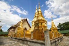 Wat Phra That Ha Duang Lamphun Thailand Arkivbilder