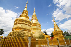Wat Phra That Ha Duang Lamphun Thailand Royaltyfri Bild