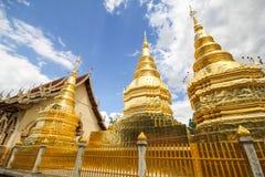 Wat Phra That Ha Duang Lamphun Thailand Arkivfoto
