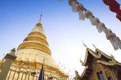 Wat Phra That Hariphuncha, Lamphun, Thailand stockfoto