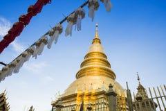 Wat Phra That Hariphuncha, Lamphun, Thailand lizenzfreies stockfoto