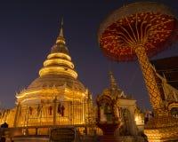 Wat Phra That Hariphuncha, Lamphun, Thailand lizenzfreie stockfotos
