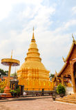 Wat phra that hariphunchai Stock Photography
