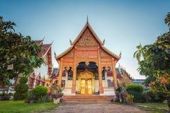 Wat phra hariphunchai 库存图片