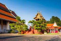 Wat phra hariphunchai 库存照片