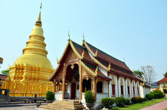 Wat Phra That Hariphunchai chez Lamphun de la Thaïlande Images stock
