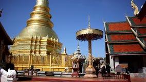 Wat Phra That Hariphunchai stock footage