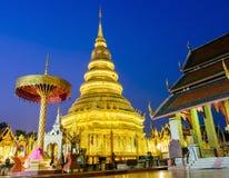 Wat Phra That Hariphunchai in Lamphun-Provinz, Thailand, public domain Stockfoto