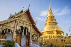 Wat Phra That Hariphunchai, Lamphun, Thailand lizenzfreie stockfotografie