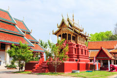Wat phra that hariphunchai Stock Photo