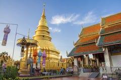 Wat Phra That Hariphunchai, Lamphun, Thailand stock image