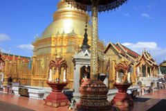 Wat Phra That Hariphunchai Stock Images