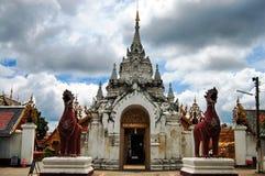 Wat Phra That Hariphunchai at Lamphun of Thailand Royalty Free Stock Image