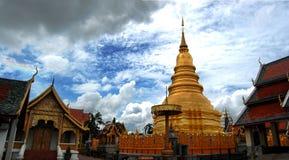 Wat Phra That Hariphunchai at Lamphun of Thailand Royalty Free Stock Images
