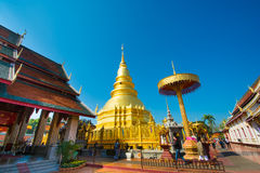 Wat Phra That Hariphunchai-tempel Stock Afbeelding