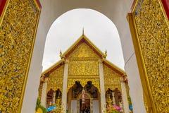 Wat Phra That Hariphunchai-tempel Royalty-vrije Stock Afbeeldingen