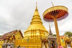 Wat Phra That Hariphunchai temple. Wat Phra That Hariphunchai temple in Lamphun,Thailand Stock Photo