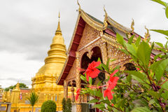 Wat Phra That Hariphunchai temple. Wat Phra That Hariphunchai temple in Lamphun,Thailand Royalty Free Stock Photography