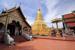 Wat Phra That Hariphunchai, Thaïlande Photographie stock