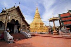 Wat Phra That Hariphunchai , Thailand Stock Photography