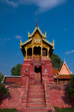 Wat Phra Haripunchai Ads. Stock Photo